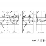 仏像・地蔵菩薩の仏頭・下絵・図面画像
