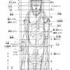 仏像の各部名称と位置・下絵・図面画像