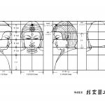 仏像・如来の仏頭の下絵・図面画像